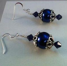 Handmade Faberge type earrings