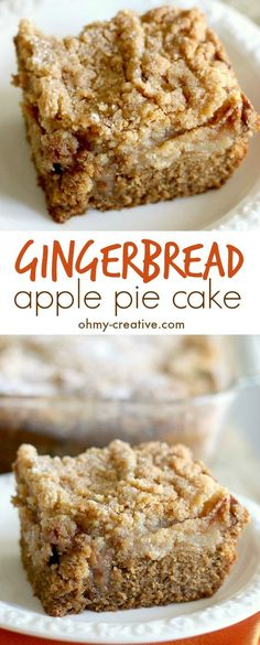 This Gingerbread Apple Pie Cake is soft, moist, with the perfect blend of ginger, nutmeg and sweet brown sugar. A delicious crumb topped apple pie!