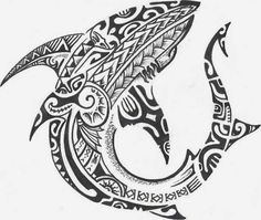 maori shark tattoo, can some one henna this for me!?