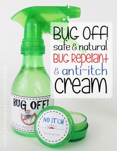 You don't have to use dangerous insect repellants containing DEET. We've got a natural bug repellant you can easily make that works wonderfully and won't harm the body in any way.  We've also got some anti-itch cream you can make in case you do get bit.  Plus, we have some really nice FREE DOWNLOADABLE LABELS!