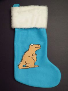 Silly 80's Dinosaur Christmas Stocking