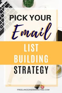 Email list building strategies vary depending on your financial ability, your time and goals. If you can invest money, then paid ads will wo. Email Marketing Design, Email Marketing Strategy, E-mail Marketing, Marketing Software, Mobile Marketing, Digital Marketing, Business Marketing, Content Marketing, Internet Marketing