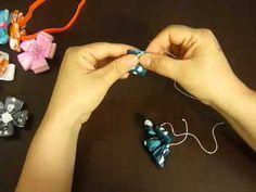 lindas flores en cinta para decorar diademas o hacer broches para el cabello o para decorar tus sandalias, toallas