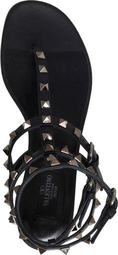 VALENTINO - Rockstud leather gladiator sandals | Selfridges.com