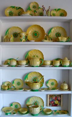 BUTTERCUP - featured Floral Embossed range by Carlton Ware Part 2 - a nice collection! Vintage Crockery, Vintage China, Vintage Kitchen, Carlton Ware, Kitchen Collection, China Patterns, Vintage Pottery, Mellow Yellow, China Porcelain