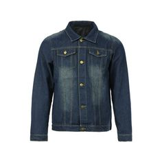 21.97$  Watch now - http://diitj.justgood.pw/go.php?t=141748604 - Slimming Shirt Collar Stylish Double Pockets Buttons Design Long Sleeve Men's Denim Jacket