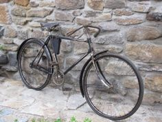 Altes Fahrrad Göricke1927- Lenker mit Bremse,orig. Steuerkopfschild,Lack,Nickl