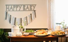 Max and Margaux's bright, modern baby shower