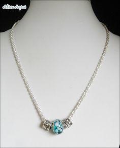 Collier court charms Européens avec perles de Murano : Collier par alice-ayres