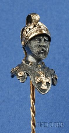 Antique Knight Stick Pin, the mustachioed figure wearing a plumed helmet with articulated visor, a maltese cross on his breastplate, go. Joan D Arc, Hat Stands, Maltese Cross, Tie Pin, Diamond Brooch, Hat Hairstyles, Stick Pins, Sculpture, Ancient Artifacts
