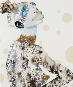 """thunderstruck9: """" Wangechi Mutu (Kenyan, b. 1972), Collage, 2002. Gouache, ink, sequins and printed collage on paper, 17 x 14 in """" one of my favorite artists!"""