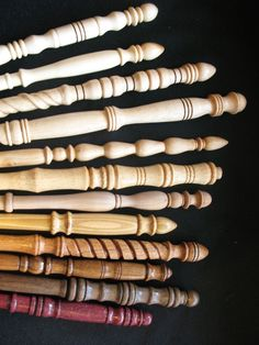Hand Turned Wooden Wands Maple Walnut Oak by CharlestonBromheadCo Wooden Wand, Christmas Craft Fair, Maple Walnut, Carving Designs, Wood Turning Projects, Basic Style, Types Of Wood, Crafts To Do, Dark Wood