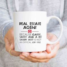 "Realtor gift, christmas gifts, ""Real estate agent"" funny coffee mugs, real estate closing gifts, real estate agent open house gifts MU486"