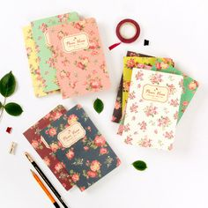 Wanna This Blooming flower pattern lined notebook small