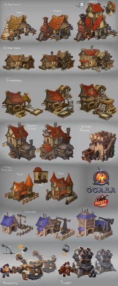 edd4505115884d8acba436a4e5a96ccf.jpg 576×1,388 pixels Game Environment, Environment Concept Art, Environment Design, Building Design, Building Concept, 2d Game Art, Video Game Art, Fantasy House, Fantasy Art
