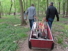 Planting Seedlings at Rye Nature Center - May 2015
