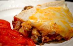 Terrific Taco Lasagna Casserole ... loaded with beans, meat and cheese. Yum!