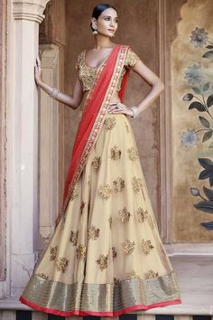 Online ethnic wear store for indian lehenga choli. Shop this net embroidered and resham work a line lehenga choli for wedding and reception. Lehenga Choli Designs, Ghagra Choli, Lehenga Choli Online, Bridal Lehenga Choli, Lehenga Wedding, Indian Lehenga, Lehenga Indien, Lehenga Style Saree, Bollywood Lehenga