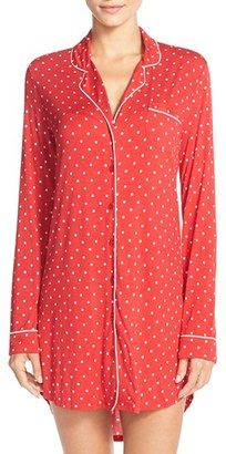 Nordstrom Lingerie 'Moonlight' Nightshirt - Shop for women's Shirt - Red Tango Polka Shirt