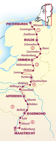 In één streep door Nederland-fietsroute Amsterdam, Pilgrimage, Hiking Trails, Free Food, Places To See, Netherlands, Travel Inspiration, Dutch, Road Trip