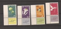 Israel 1952 New Year MNH Corner Tab Set Scott 66 69 Bale 72 75 | eBay