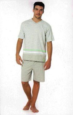 Comprar Pijama verano hombre Punto Blanco 100% algodón. Camiseta manga corta | Pantalón corto, tipo bermuda | Tu ropa interior masculina en Varela Íntimo. http://www.varelaintimo.com/categoria/40/pijamas #pijamas #menswear #menunderwear