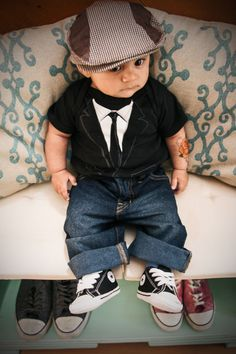 Vintage baby jaxson converse style 5 months tattoo kid