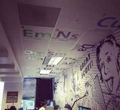 We are thrilled to have our Periodic Table of Marketing Elements up on the ceiling here at the Blinds.comPLEX