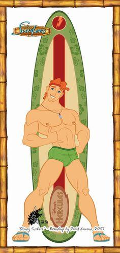 Disney Surfers - Hercules by ~davidkawena on deviantART