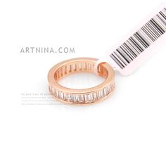 trendy high quality alloy with 14k gold plated crystal wedding rings