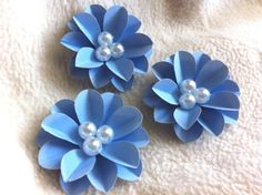 Scrapbook Paper Piece Set of Very by JudeAlyssaMarkus Embroidery Applique, Beaded Embroidery, Scrapbook Paper Flowers, Homemade Greeting Cards, Lesage, Chunky Beads, Scrapbook Embellishments, Beaded Brooch, Embroidery Techniques