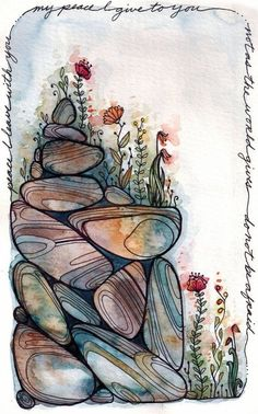 Art Inspo, Art Journal Inspiration, Abstract Illustration, Ink Illustrations, Watercolor And Ink, Watercolor Paintings, Abstract Paintings, Watercolours, Oil Paintings