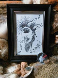 Check out this item in my Etsy shop https://www.etsy.com/listing/560274868/krampus-framed-drawing