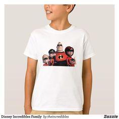 Disney Incredibles Family  T-Shirt. Awesome Disney The Incredibles items to personalize. #disney #theincredibles #birthday #gifts #personalize #shopping