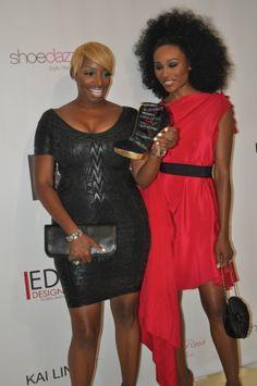 NeNe Leakes Black Dress & Cynthia Bailey Red Dress at Shoe Dazle Launch