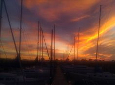 Sunset during the Yacht Club Party ..