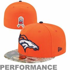 New Era Denver Broncos Salute To Service On-Field 59FIFTY Fitted Performance Hat - Orange
