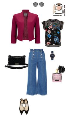 """""""Midnight garden"""" by ulusia-1 ❤ liked on Polyvore featuring Steve J & Yoni P, Markus Lupfer, Jimmy Choo, Chanel, Ray-Ban, Nixon and Victoria's Secret"""