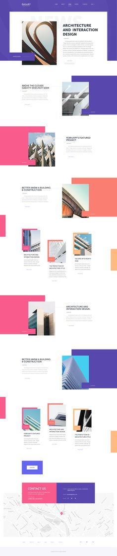 Architecture website news page