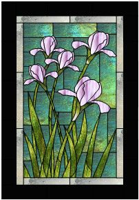 Sun Kissed Iris Stained Glass Pattern from Glass Pattern Source