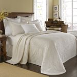 KING CHARLES WHITE BEDDING  BY HISTORIC CHARLESTON