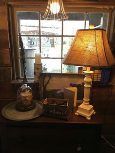 We transformed this brass lamp into a fresh look! Chalk Paint® decorative paint by Annie Sloan has endless possibilities! www.twooldbirds.com #chalkpaint #twooldbirds #vintagevillage #shoplocal