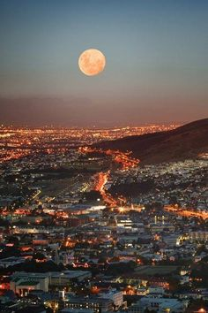 Cape Town at Full Moon - SA
