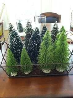 How To Decorate With Mini Christmas Figurines And Trees