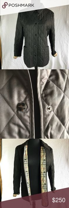 Burberry Black Diamond Quilted Jacket size S Beautiful and authentic black quilted Burberry jacket.  Normal wear. In good conditions  Please if you need more pictures or information please feel free to ask Burberry Jackets & Coats Puffers
