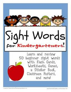 This packet includes 10 weeks worth of sight words new each week)! This packet includes: - 50 flash cards. (Flash cards measure so that . Sight Word Practice, Sight Words, Help Teaching, Teaching Tools, Learning Time, Kids Learning, Kindergarten Readiness, Thinking Skills, Kids Education