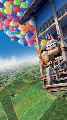 Up Phone Wallpaper Up Pixar, Pixar Movies, Cartoon Movies, Disney Movies, Disney Pixar Up, Images Disney, Art Disney, Disney Pictures, Movie Wallpapers