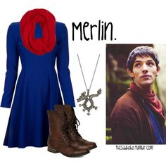 Love the boots :) Also, I'd probably be able to wear it better if modeled after his alternate outfit (i.e., blue scarf, red shirt...) :)