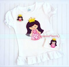 Free Embroidery Designs - Princess with Crown Applique & Felt Clippie 4x4 5x7 6x10 7x11 SVG - Welcome to Lynnie Pinnie.com! Instant download and free applique machine embroidery designs in PES, HUS, JEF, DST, EXP, VIP, XXX AND ART formats.