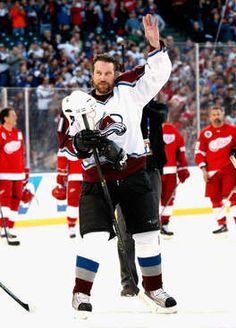 Love this man Ice Hockey Teams, Hockey Players, Peter Forsberg, Nhl Games, Sport Of Kings, Colorado Avalanche, National Hockey League, Denver Broncos
